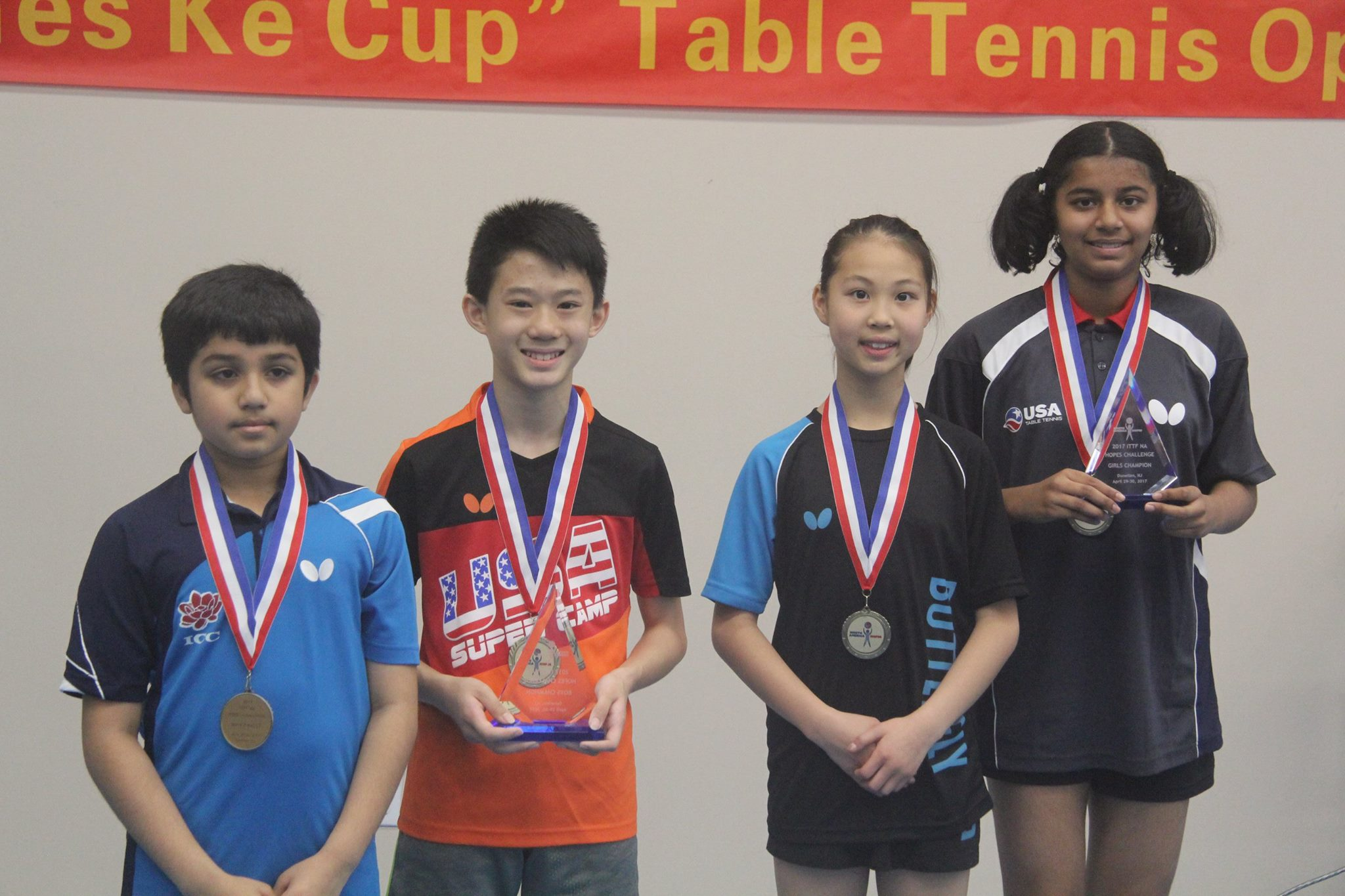 2017 ITTF North America Hopes qualification tournament crowned champions