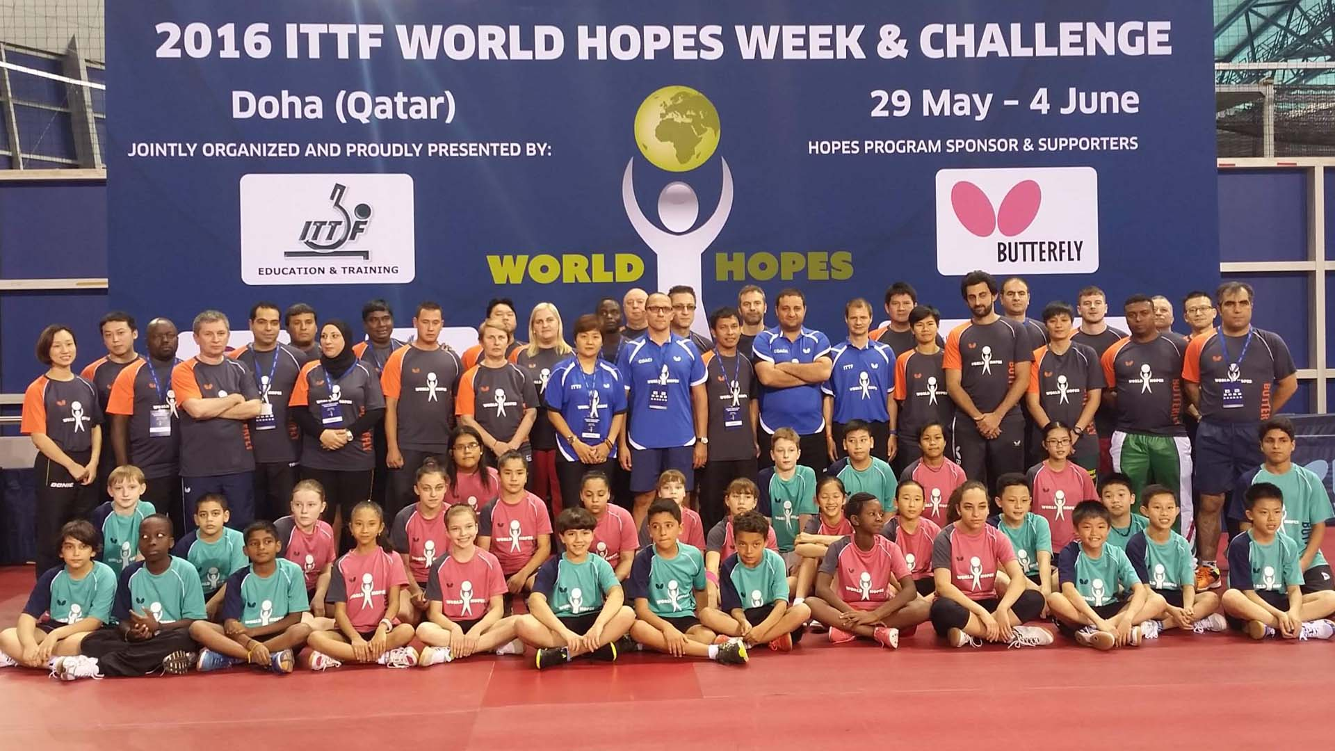 New Talents emerge with the ITTF Hopes Program