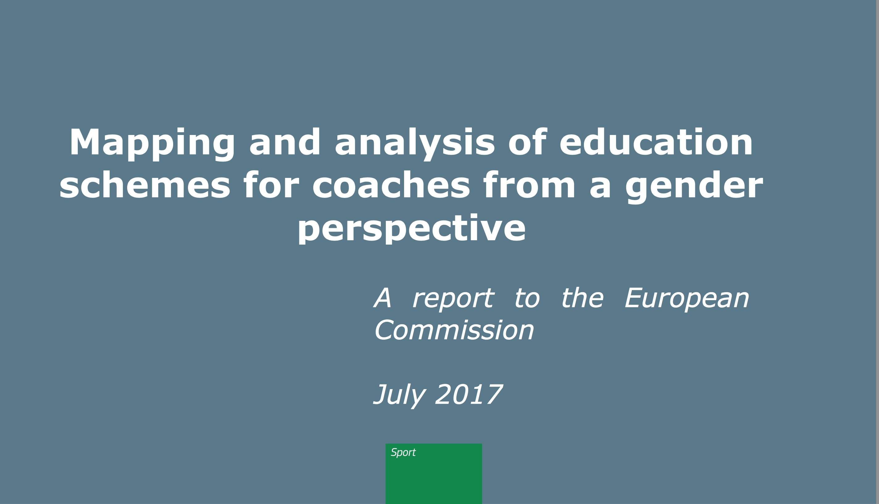 Education schemes for coaches from a gender perspective