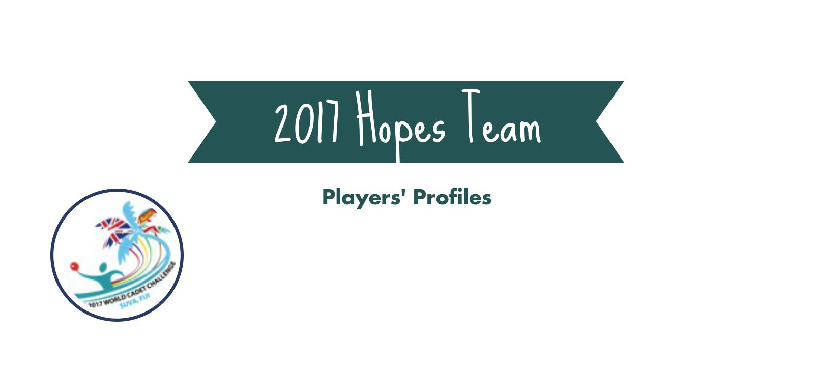 2017 Hopes Team Profiles