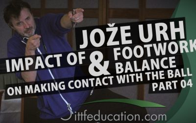 Joze Urh Impact of Footwork and Balance On Making Contact With The Ball Part 4