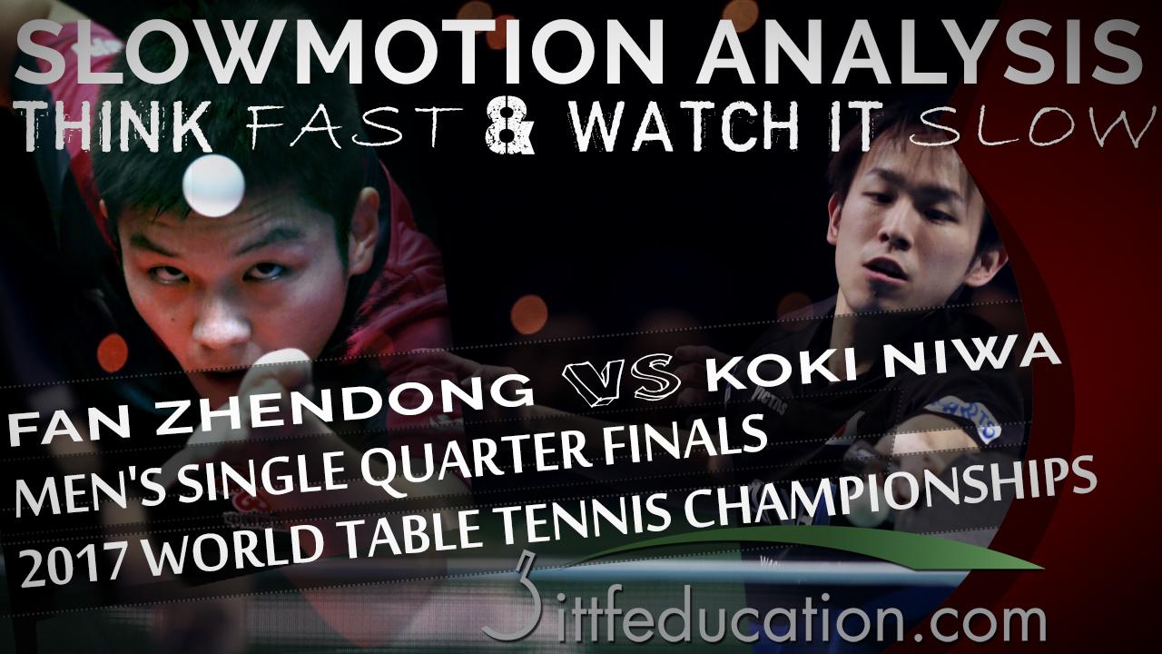 Fan Zhendong VS Koki Niwa – Receive Flat Short Serve – 2017 WTTC